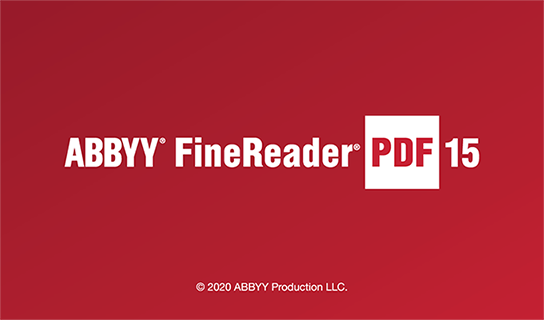 ABBYY FineReader PDF 15 is the new name of FineReader 15