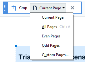 how to crop a PDF
